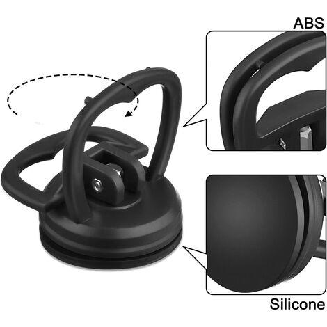 2 Pièces 5.5 cm Dent Pullers Ventouses de Voiture Ventouses de Réparation Puller Removal Tool(Noir)