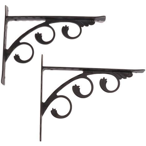 2 Pieces Aluminum Wall Shelf Bracket L Shape Right Angle Bracket For Basic Furniture Trim Hardware