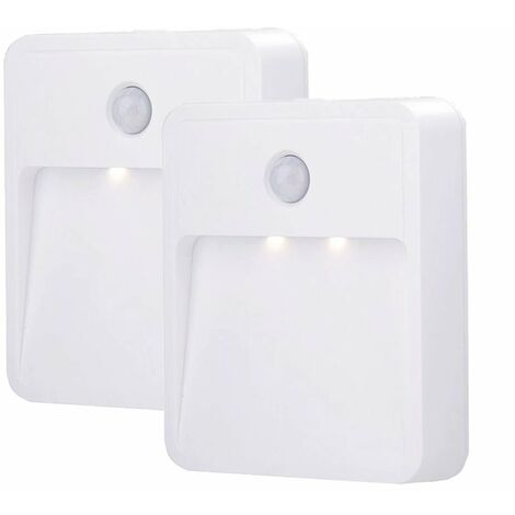 2 pieces of pilot light LED body induction light kitchen cabinet corridor hallway halls bedside light white light