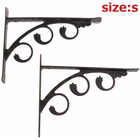2 Pièces Support D'étagère Murale En Aluminium L Forme Angle Droit Support Pour Matériel De Garnitures De Meubles De Base
