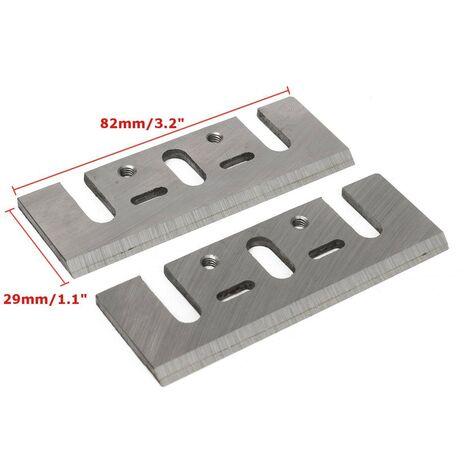 2 piezas cepillo eléctrico HSS reemplazo de hoja plana 82x29x3mm Pr Makita 1900B