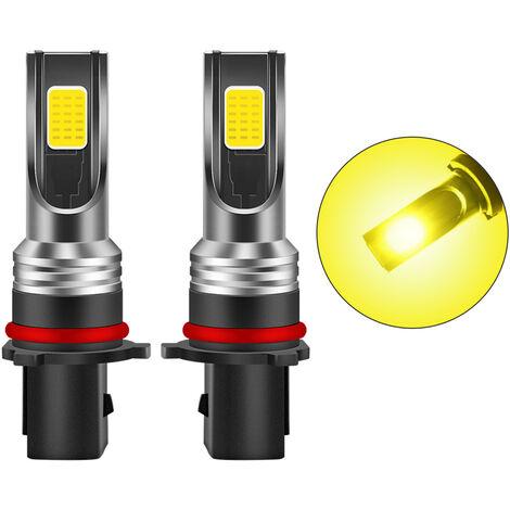 2 piezas de P13W LED de la niebla de las bombillas 3000K amarillo 3000 lumenes 30W LED de alta potencia de luz antiniebla Bombillas DRL para Autos Camiones