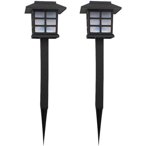 2 piezas, LED de luz solar para cesped, lampara de paisaje,Multicolor