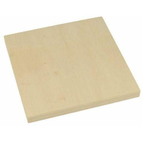 2 placas de madera 15 x 15 x 1,2 cm