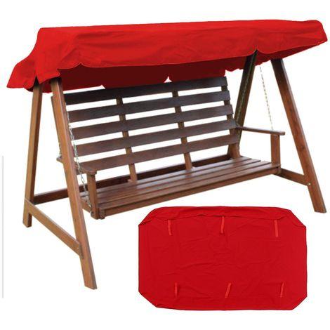 2 places couvertures de baldaquin de rechange de chaise d'oscillation de jardin de place UV de rechange Sasicare