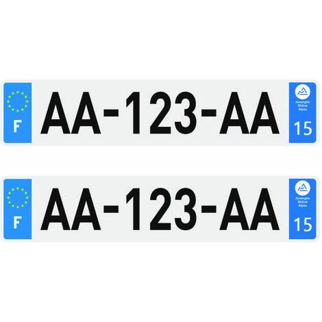 2 plaques d'immatriculation Plexi Premium homologuées SIV 520 x 110 mm - 14Calvados