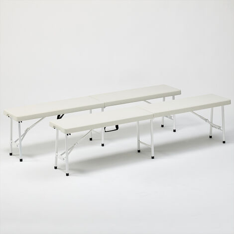 2 Plastic bench set for garden and camping 183x30 MONT BLANC