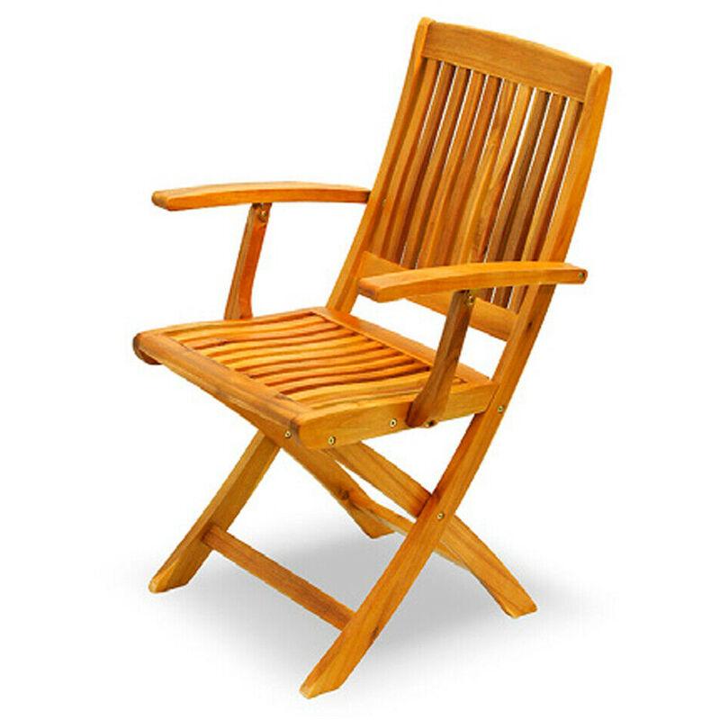 x2 Poltrona in legno Acacia Gold 54x64xh94 esterno arredo giardino casa AC805074
