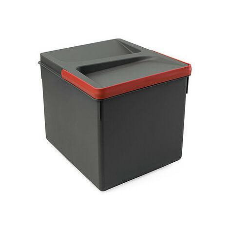 2 poubelles pour tiroir de cuisine, hauteur 216 mm, 2x6L, gris antracite - Gris antracite