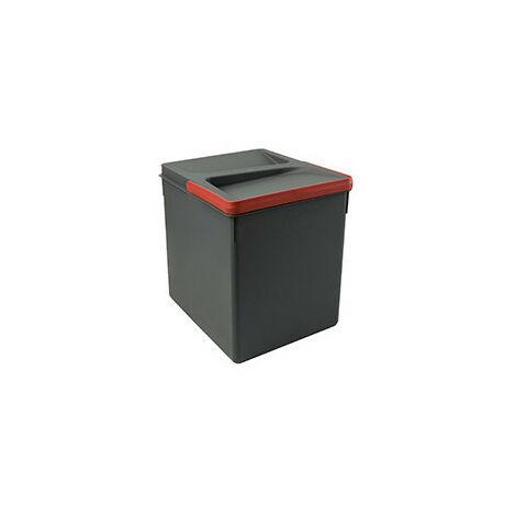2 poubelles pour tiroir de cuisine, hauteur 266 mm, 2x7L, Gris antracite - Gris antracite