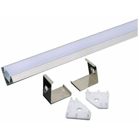 2 profilmetres en aluminium pour bandelettes indoor led vt-8114 3356