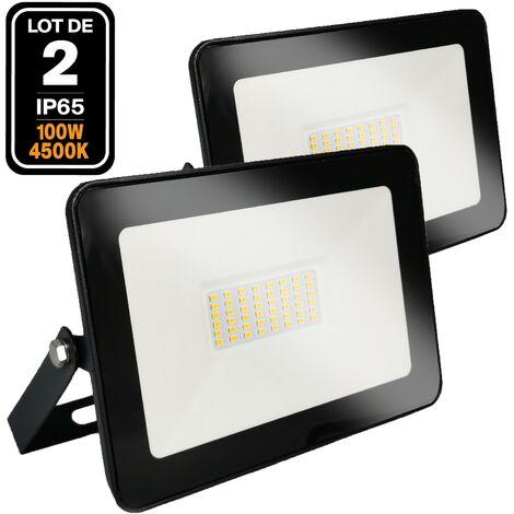 2 Projecteurs LED 100W Ipad Blanc neutre 4500K Haute Luminosité
