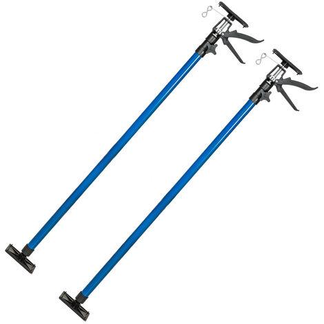 2 puntales de 115-290 cm - set de puntales de acero, pack de puntales manuales extensibles, juego de puntales de altura para sujeción