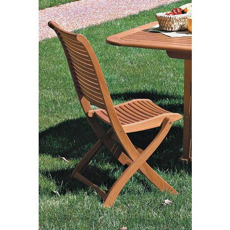 2 pz. sedia riviera pieghevole cm.63x53x95h legno balau yellow,finitura ad olio - Salone