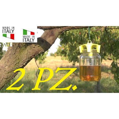 2 Pz Vaso Trap Tappo Giallo Trappola Bio Per Calabroni E Vespe Originale