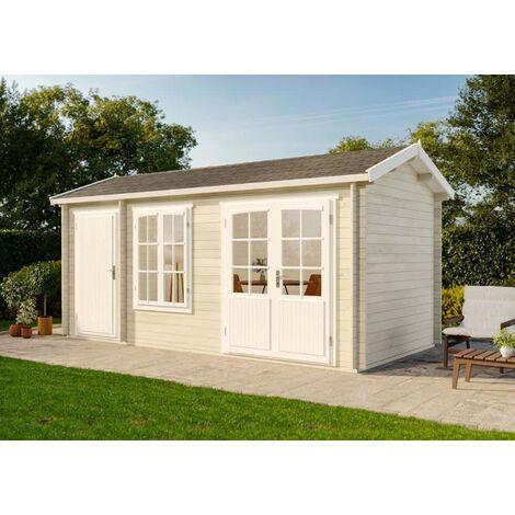 2 raum gartenhaus bolton 28 xl ohne impr gnierung l1 1. Black Bedroom Furniture Sets. Home Design Ideas