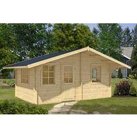 2 Raum Gartenhaus Modell Susanna 44