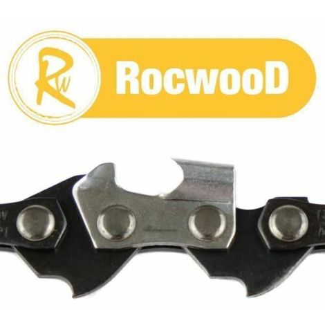 2 Rocwood Chainsaw Saw Chains 3/8LP .050 1.3m 52 DL Drive Links, See Description For Applications