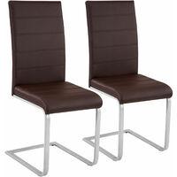2 Schwingstühle, Kunstleder - Esszimmerstühle, Küchenstühle, Schwingstuhl