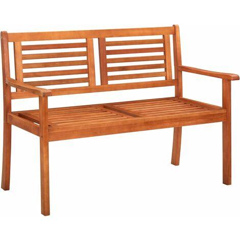 2-Seater Garden Bench 120 cm Solid Eucalyptus Wood