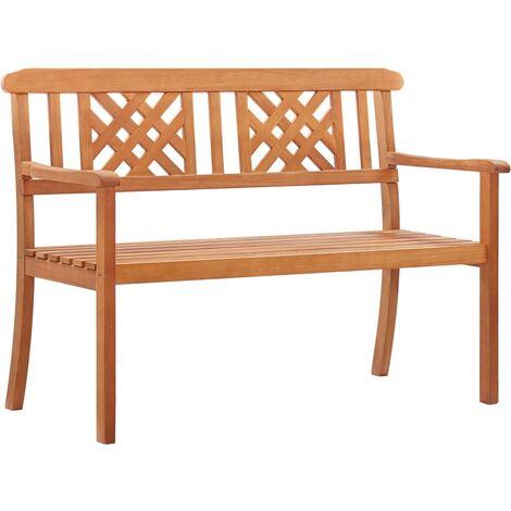2-Seater Garden Bench 120 cm Solid Eucalyptus Wood - Brown