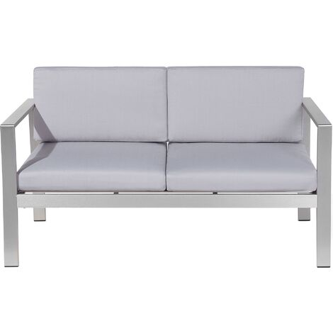 2 Seater Garden Sofa Light Grey SALERNO