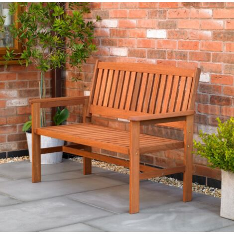 "main image of ""2 Seater Hardwood Garden Patio Bench"""