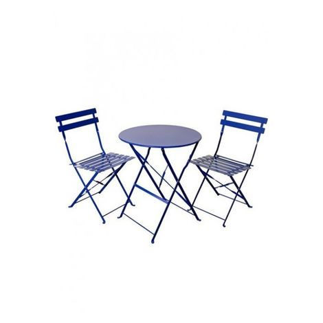 2 Seater Navy Blue Folding Padstow Bistro Set