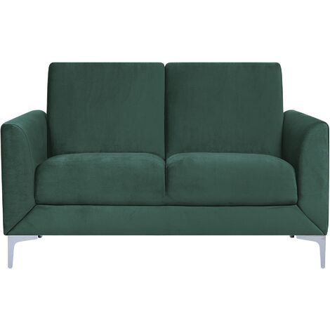 2 Seater Velvet Sofa Green FENES