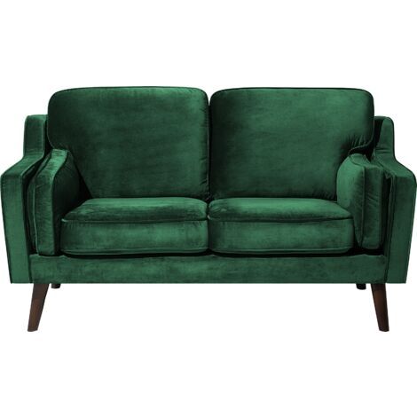 2 Seater Velvet Sofa Green LOKKA