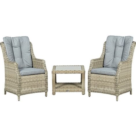 2 Seater Wentworth Comfort Companion Set - With Side Table and Cushions Incl.