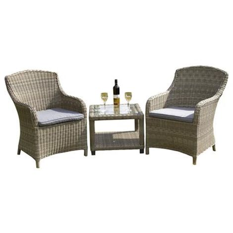 2 Seater Wentworth Imperial Companion Set - Side/lamp Table 60 x 60 x 45cm With 2 Imperial Chairs Incl. Cushion