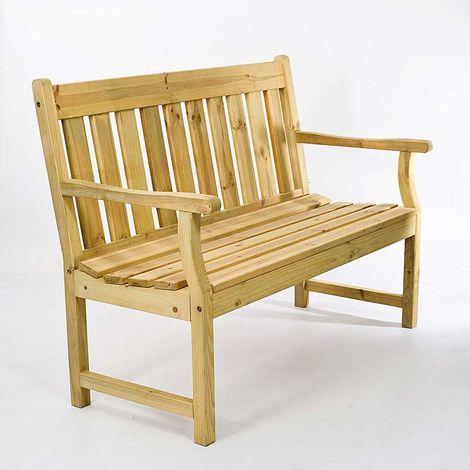 2 Seater Wooden Bench Treated FSC Scandinavian Pine