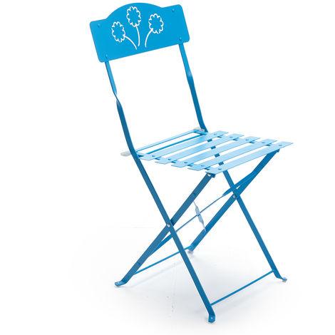 Sedie In Ferro Battuto Pieghevoli.2 Sedie Da Esterno Sedia In Ferro Pieghevole Azzurra 06179