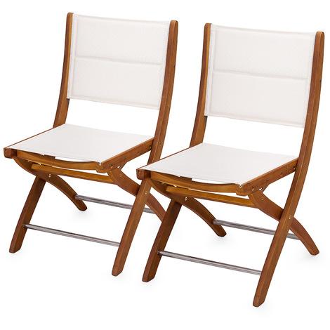 Sedie In Legno Giardino.2 Sedie Da Esterno Sedia In Legno Di Acacia Poltrona Bianca Da