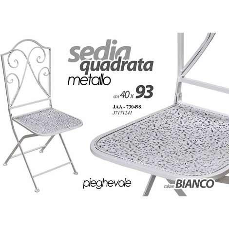 Tavoli Da Giardino Decorati.2 Sedie Da Esterno Sedia In Metallo Decorato Bianca Per Tavolo