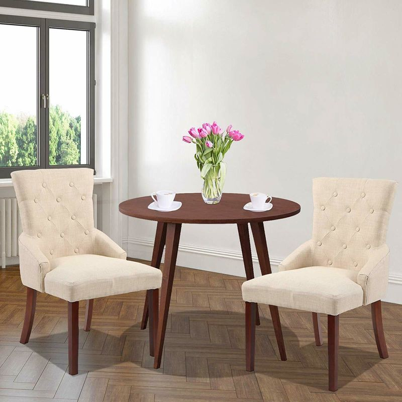 2 Sedie da Pranzo Cucina Salotto Design Elegante imbottitura in Tessuto