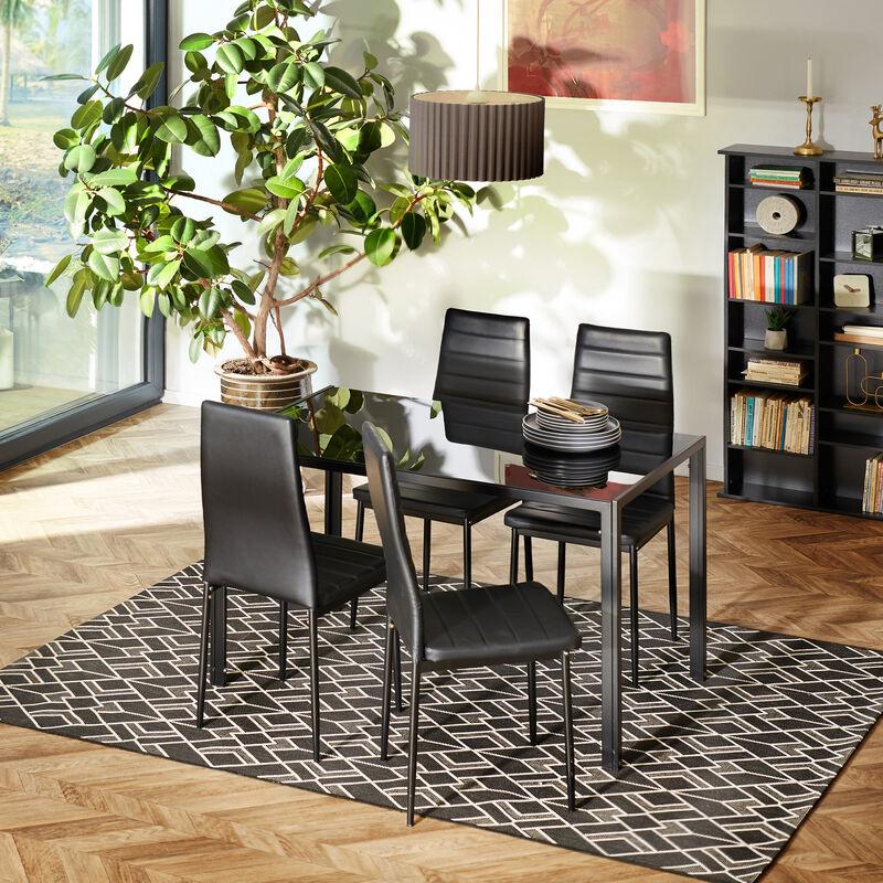 2 sedie da sala da pranzo in pelle sintetica - sedie moderne, sedie sala da  pranzo, sedie da pranzo