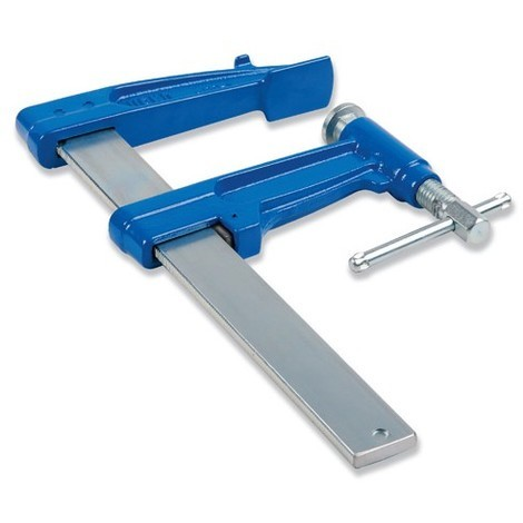 2 serre-joints à pompe 120 cm section 40 x 10 mm saillie de 220 mm et frein antiglissant - UR-1523120x2 - Urko