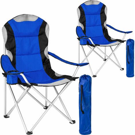 2 sillas de camping acolchadas