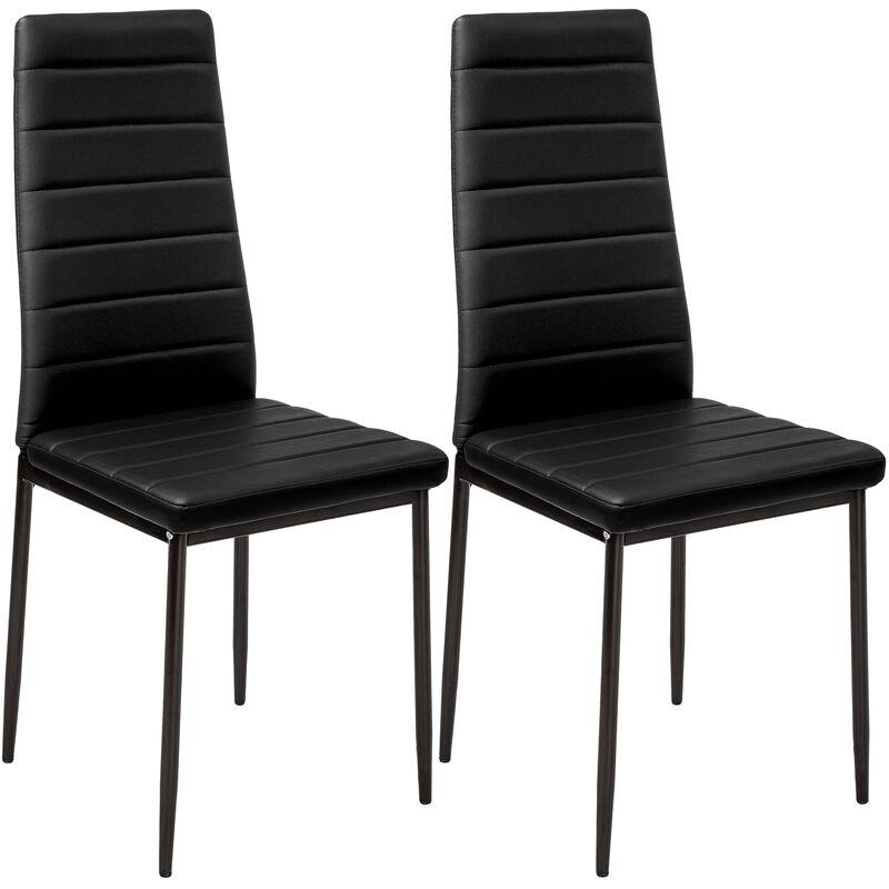 2 sillas de comedor de poli piel - sillas para salón de diseño, sillas de  comedor modernas de acero lacado, asientos de comedor para casa