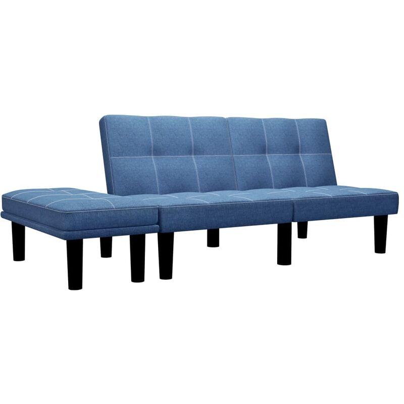 2-Sitzer-Sofa Blau Stoff - VIDAXL