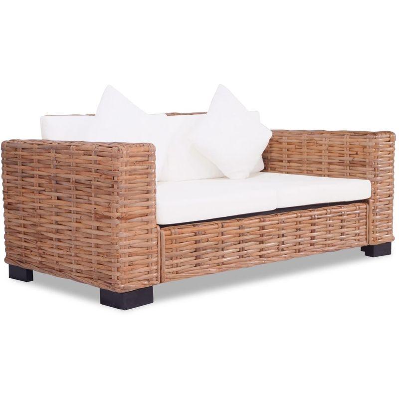 2-Sitzer-Sofa Naturliches Rattan - ASUPERMALL