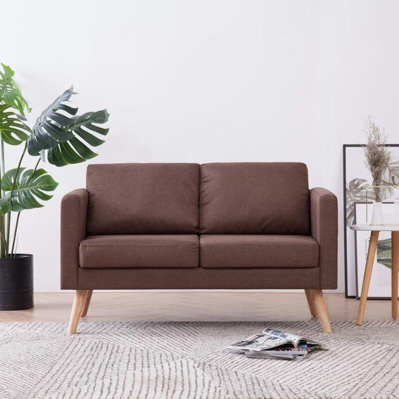 2-Sitzer-Sofa Stoff Braun - ZQYRLAR