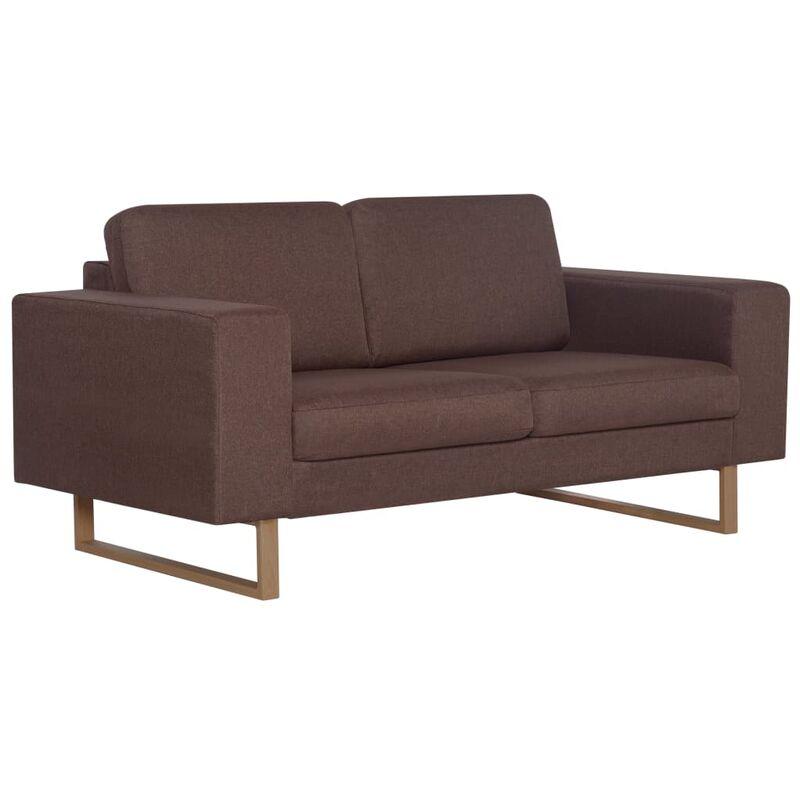 2-Sitzer-Sofa Stoff Braun - VIDAXL