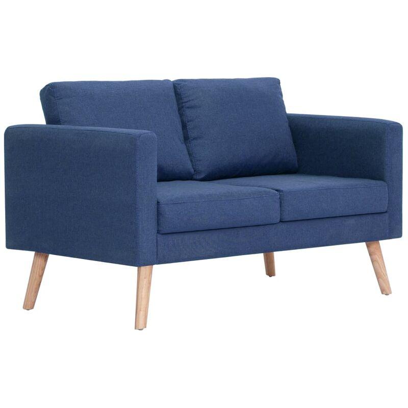 2-Sitzer-Sofa Stoff Blau - VIDAXL