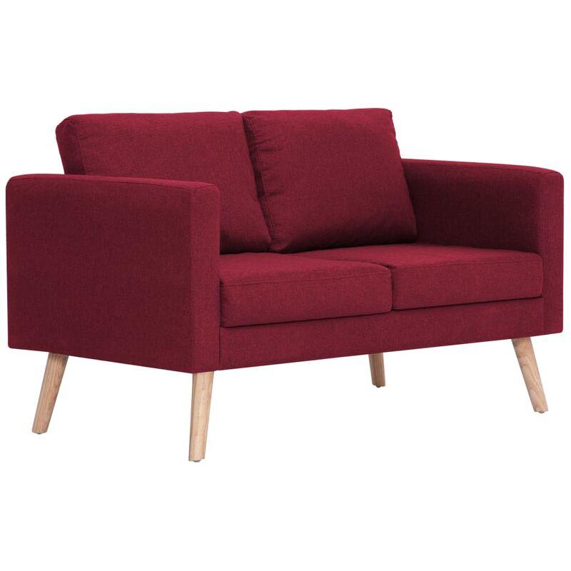 2-Sitzer-Sofa Stoff Weinrot