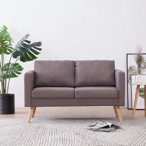 2-Sitzer-Sofa Stoff Taupe
