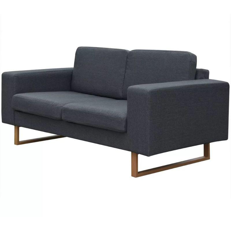 2-Sitzer Sofa Stoff Dunkelgrau - ASUPERMALL