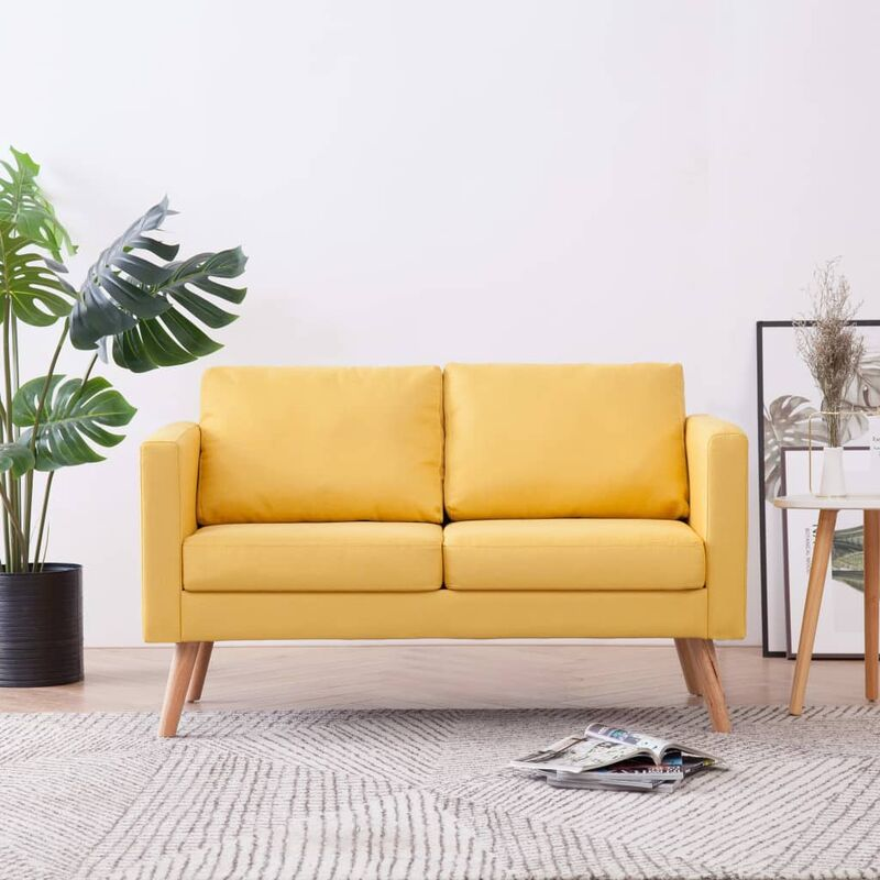 2-Sitzer-Sofa Stoff Gelb - ZQYRLAR